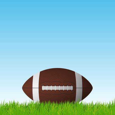 Football ball on a grass field. Vector EPS10 illustration. Illustration