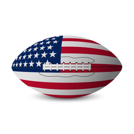 sport balls: Football flag of USA isolated on white background. Vector EPS10 illustration. Illustration