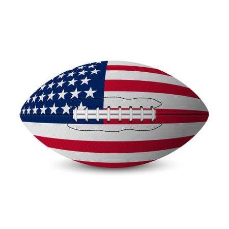 Football flag of USA isolated on white background. Vector EPS10 illustration. Illustration