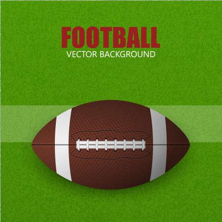 grass field: Football ball on a grass field. Vector background.