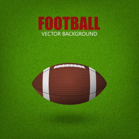 grass field: Football ball on a grass field. Vector illustration.