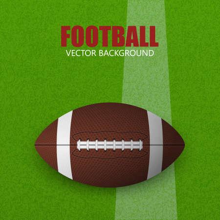 speelveld gras: Voetbal op een grasveld. Vector illustratie. Voetbal op een gras fieldFootball bal op een grasveld. Vector illustratie. Stock Illustratie