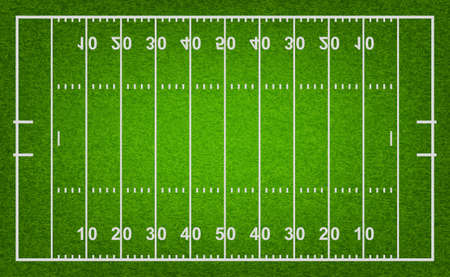 American football veld met gras textuur. Vector EPS10 illustratie.