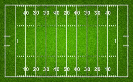 campo di calcio: Campo di football americano con trama di erba. Vector EPS10 illustrazione. Vettoriali