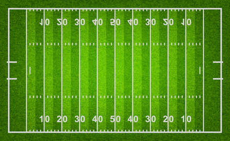 football field: American football field with grass texture. Vector EPS10 illustration.