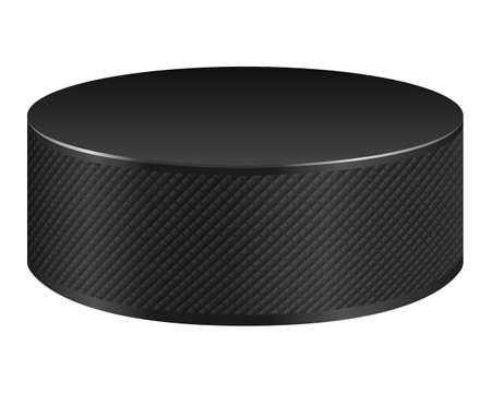 Hockey puck isolated on white background. Vector EPS10 illustration. 일러스트
