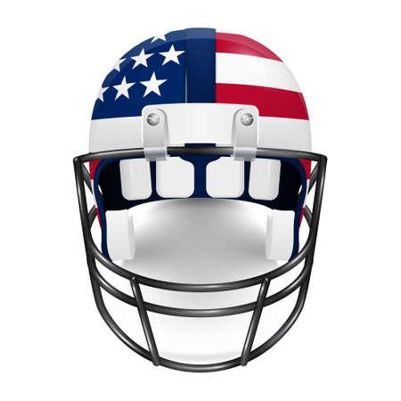 estados unidos bandera: Patri�tico casco de f�tbol americano - la bandera de Estados Unidos. Ilustraci�n del vector.
