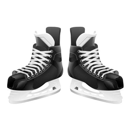 hockey: Ice hockey skates, isolated on white. Vector EPS10 illustration.