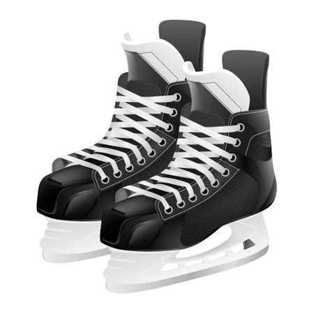 hockey skates: Ice hockey skates, isolated on white. Vector illustration. Illustration