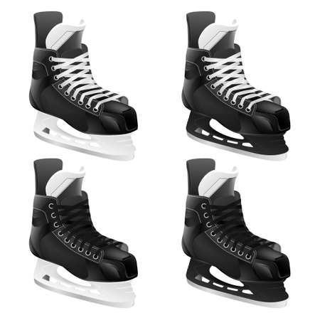 hockey skates: Set of ice hockey skates. Vector EPS10 illustration. Illustration