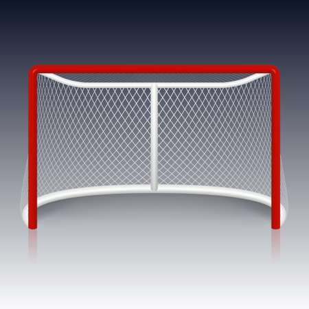 red hockey goal.  Vector