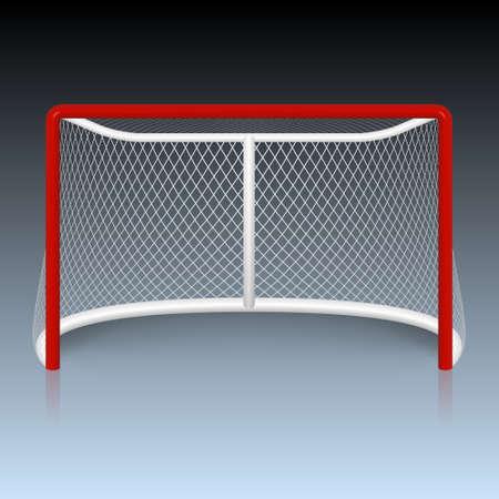 hockey sobre cesped: Vector meta del hockey rojo. Ilustraci�n vectorial EPS10.