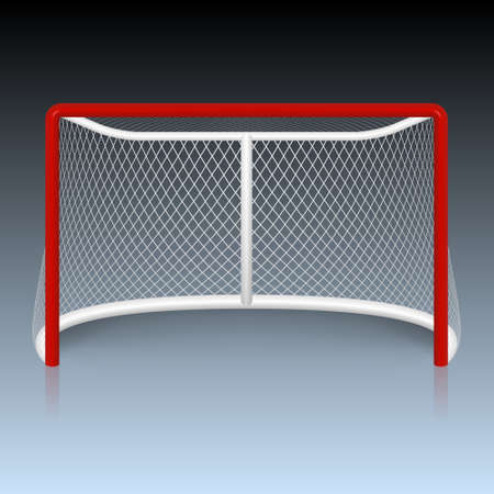 hockey stick: Vector red hockey goal. Vector EPS10 illustration. Illustration