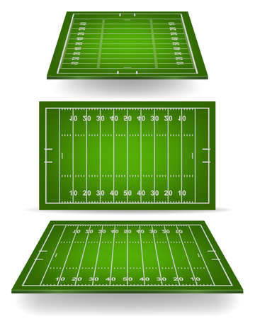 football pitch: American football field with perspective. Vector EPS10 illustration.