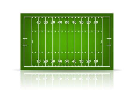 3 d アメリカン フットボールのフィールド。ベクトル EPS10 イラスト。  イラスト・ベクター素材