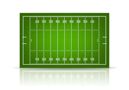 3d american football veld. Vector EPS10 illustratie. Stock Illustratie