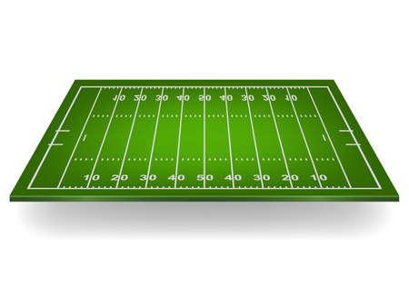 jugadores de futbol: Campo de fútbol americano 3d. Ilustración vectorial EPS10.