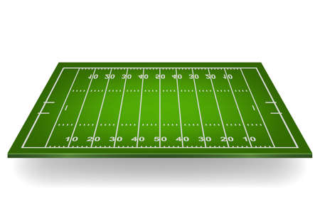 football players: Campo de fútbol americano 3d. Ilustración vectorial EPS10.
