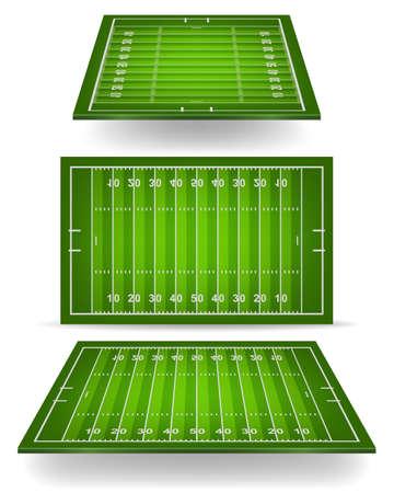 campo di calcio: Campo di football americano con la prospettiva. Vector illustration EPS10.