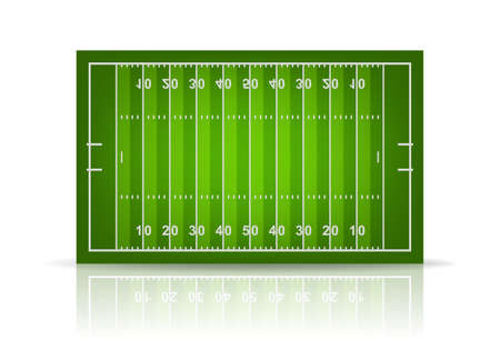 3d american football field. Vector EPS10 illustration.