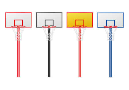 hoop: Basketball hoops set. Isolated on white. Vector EPS10 illustration. Illustration