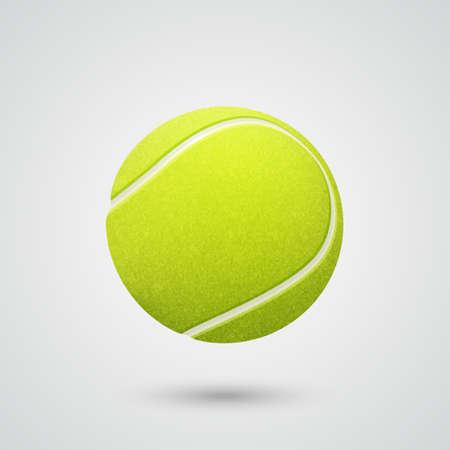 3d realistische tennisbal. Stock Illustratie