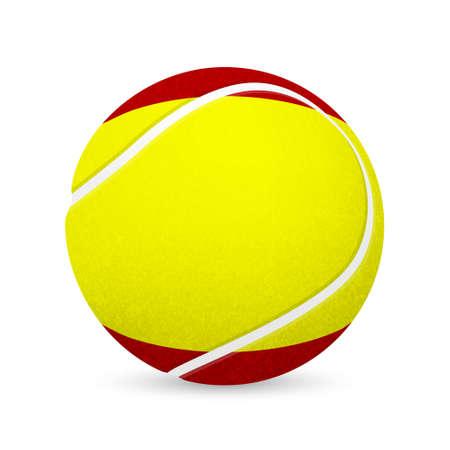 wimbledon: 3D tennis balls with Spanish flag isolated on white.  Illustration
