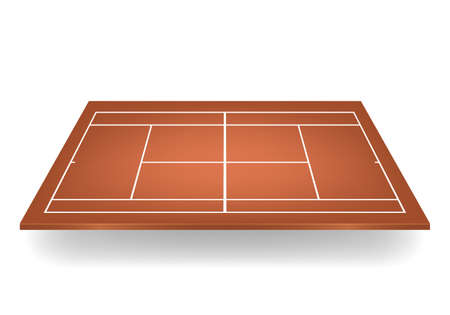 deuce: Brown 3d tennis court.
