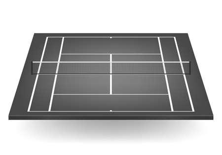 網黒テニス裁判所。