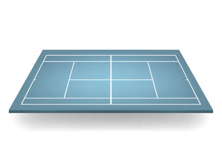 deuce: Blue 3d tennis court.