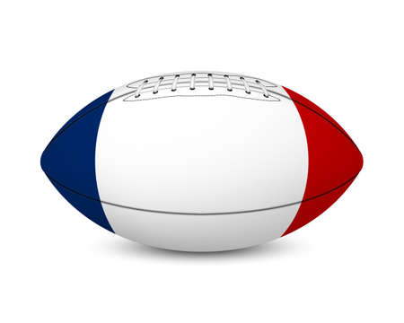 major league: Football with flag of France, isolated on white background.