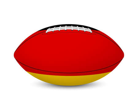 major league: Football with flag of Germany, isolated on white background. Vector EPS10 illustration.