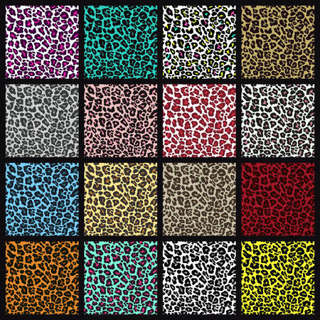 Set of leopard seamless patterns.
