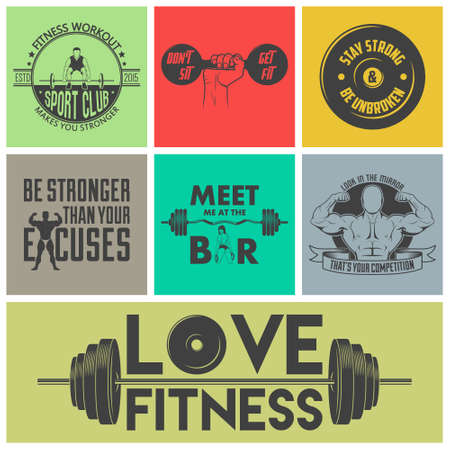 fitness workout: Fitness icons vector set. Vector EPS10 illustration.