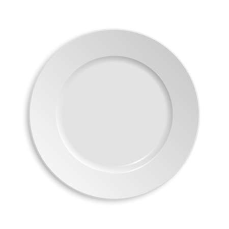 dinner plate: Empty plate. Isolated on white background.