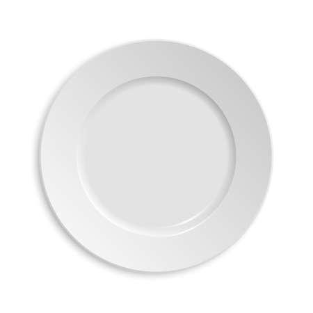 prato vazio. Isolado no fundo branco.