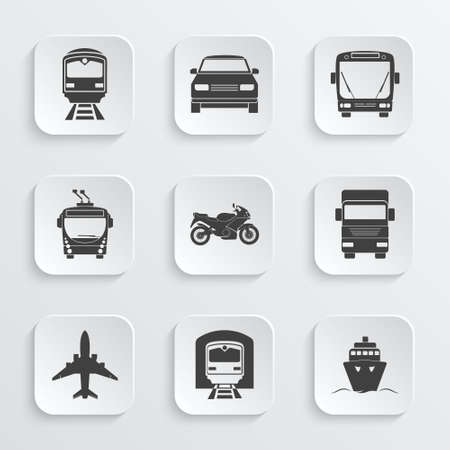 Simple transport icons set. Vector EPS10 illustration. Illusztráció