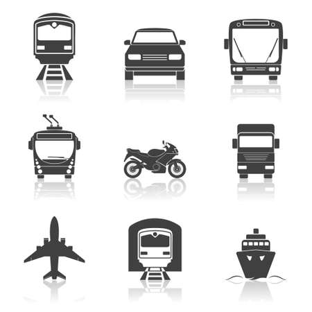 transport icons: Simple transport icons set Illustration