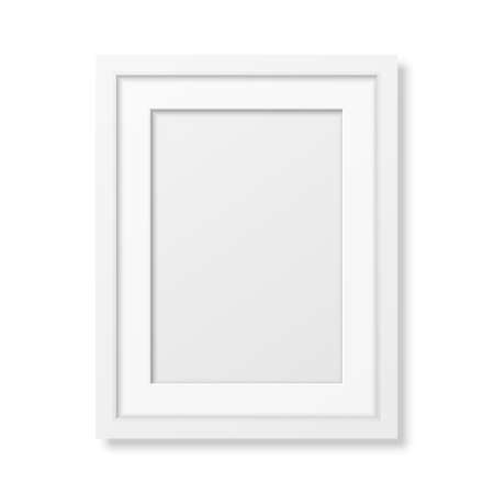 Realistic white frame A4 isolated on white. It can be used for presentations