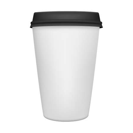 Realistic paper coffee cup iIsolated. Vector EPS8 illustration.