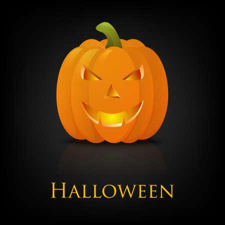 pumkin: 3D Happy Halloween pumkin. Vector EPS10 background.
