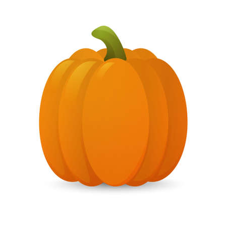 room for text: 3D glossy cartoon pumkin. Vector EPS10 illustration.