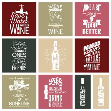 Reeks uitstekende wijn typografische aanhalingstekens. Stockfoto - 46862425