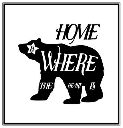 hone: Hone is where the heart is - Quote typographical Background.