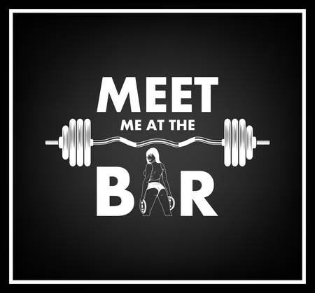 circular muscle: Meet me at the bar- Quote typographical Background. Vector EPS8 illustration. Illustration
