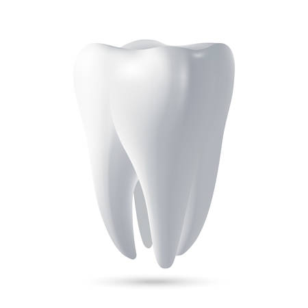 tooth icon: Tooth, 3D render. Dental, medicine and health concept design element. Vector EPS10 illustration.