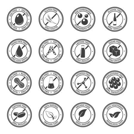 Voedselallergeen iconen set.
