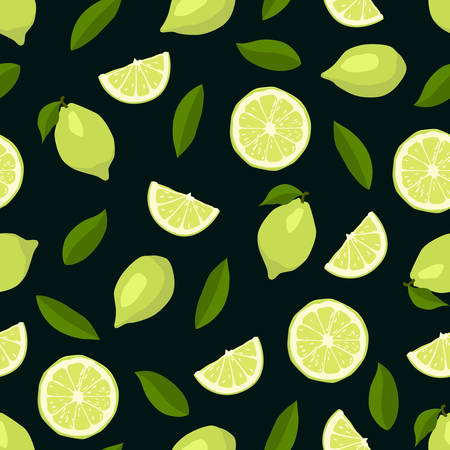 lemon lime: Cute limes seamless pattern.  Illustration