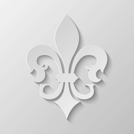 fleur of lis: Paper Fleur de lis. Vector EPS10 illustration.  Illustration