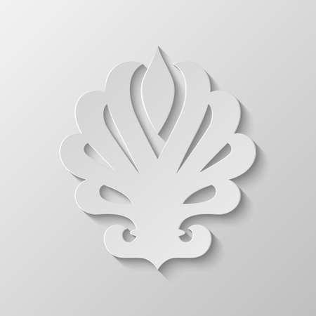 lis: Paper Fleur de lis. Vector EPS10 illustration.  Illustration